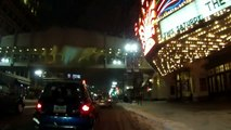 Snowing in Minneapolis - a night time bike ride through downtown in the snow