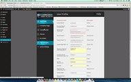 User Profile Settings of Compliance Bar