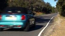 The new MINI Cooper S Convertible in Caribbean Aqua Metallic Driving Video