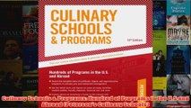 Download PDF  Culinary Schools  Programs Hundred of Programs in the US and Abroad Petersons FULL FREE