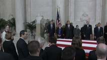 Justice Antonin Scalia's body lies in repose at the Supreme Court