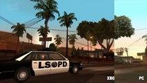 GTA San Andreas Graphics Comparison Xbox 360 PC  PS2
