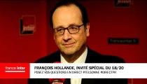 """François Hollande : """"L'Allemagne ne pourra pas accueillir encore des dizaines de milliers de réfugiés"""""""