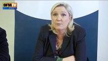 """Marine Le Pen: après les menaces de Daesh, """"le 1er mai menacé"""""""