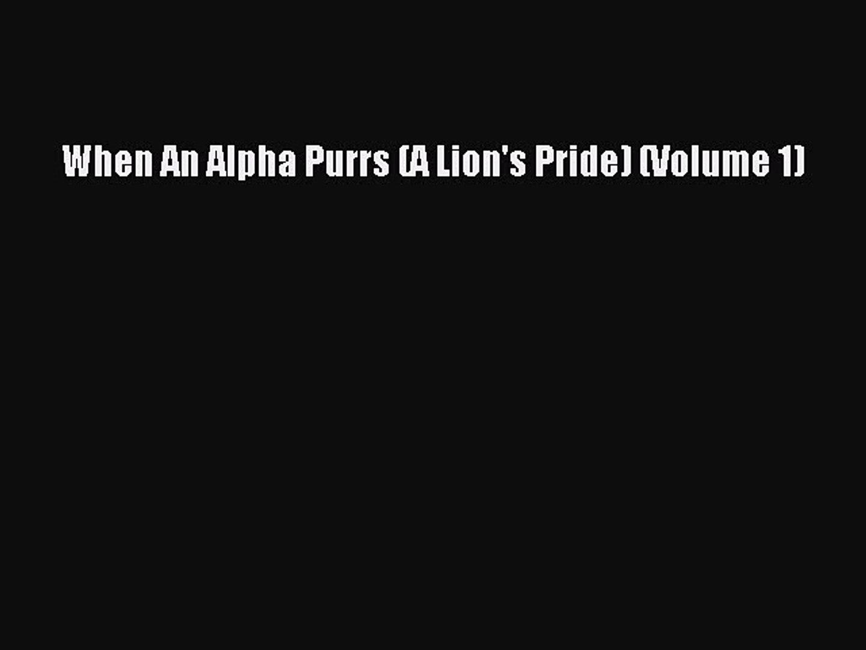 read when an alpha purrs online free