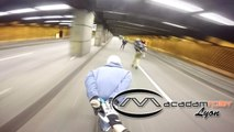 Rando roller longboard à Lyon avec Macadam Roller