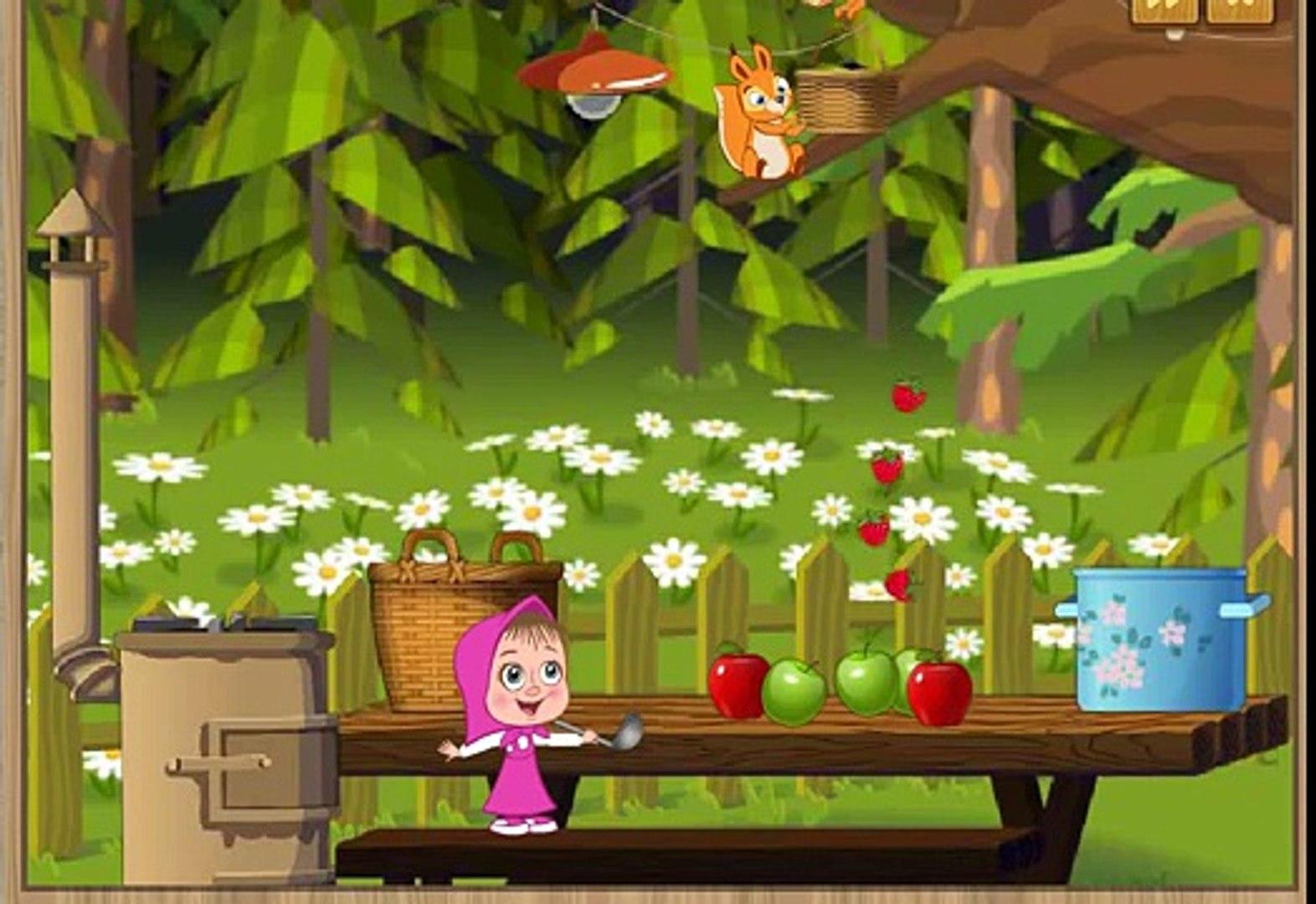 Маша и Медведь Сортируем овощи фрукты Поцветам и принадлежностям 2014 тренируем внимание