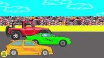 Courses de voitures. Des voitures, Des dessins animes pour enfants.