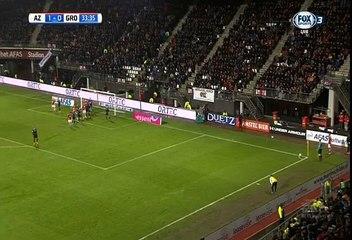 Гол Рон Влар · АЗ Алкмар (Алкмар) - Гронинген (Гронинген) - 2:0