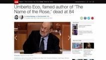 L'addio ad Umberto Eco sui siti di tutto il mondo
