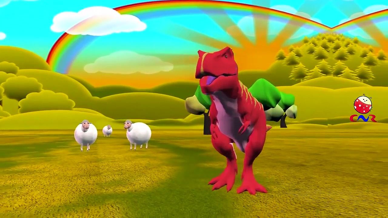 Baa Baa Black Sheep Rhymes Dinosaurs Cartoons for Children | Baa Baa Black Sheep Nursery R