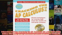 Download PDF  Princeton Review Cracking the AP Calculus AB  BC 19992000 Edition Cracking the Ap FULL FREE