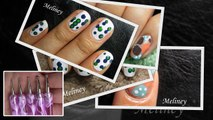 3 EASY DOTTING TOOL NAIL ART DESIGNS   HOW TO RAINBOW SHORT NAILS TUTORIAL CUTE BEGINNERS MANICURE