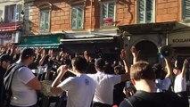 Manifestation en Corse en soutien aux supporters bastiais