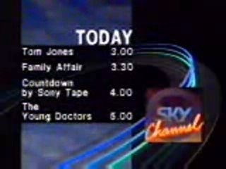 Sky channel lineup 1989