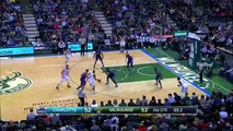 Giannis Antetokounmpo Denies Buzzer Beater - Hornets vs Bucks - Feb, 2016 - NBA 2015-16 Season -