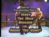 HULK HOGAN VS. ANDRE THE GIANT - ARM WRESTLING MATCH - WWF WWE Wrestling - Sports MMA Mixed Martial Arts Entertainment