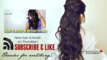 ★CUTE HAIRSTYLES HAIR TUTORIAL WITH TWIST CROSSED CURLY HALF UP UPDOS PONYTAIL FOR M