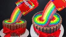 Skittles Rainbow Cake! How to make a Skittles Cake - Cupcake Addiction & Cupcakes & Cardio!