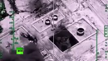 Massive bombardment of ISIS oil refineries and fuel tankers by Russian Air Force