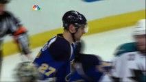 Antti Niemi robs Alex Pietrangelo. San Jose Sharks vs St. Louis Blues 41212 NHL Hockey