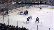 Jaroslav Halak saves, 3rd period. San Jose Sharks vs St. Louis Blues 41212 NHL Hockey