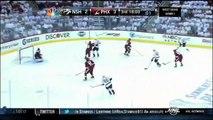 Mike Smith denies Francis Bouillon. Nashville Predators vs Phoenix Coyotes Game 1 42712 NHL Hockey