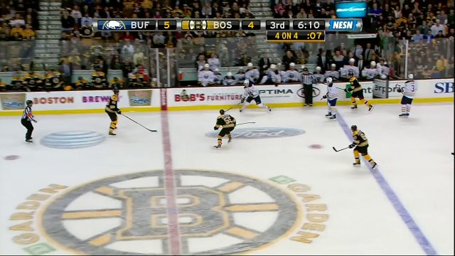 Ryan Miller robs Patrice Bergeron 31 Jan 2013 Buffalo Sabres vs Boston Bruins NHL Hockey