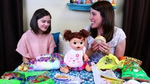 BABY ALIVE Eats Gross McDonalds, Candy & Tacos Challenge with Emma from KiittiesMama!