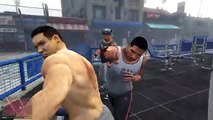 GTA 5 (PS4 / FPS view) - Franklin VS Bodybuilders - Gyaku Ryona Male on male (gay oriented)