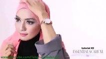 Cara Berjilbab wajah Bulat - Hijab pashmina simple Kreasi Shawlbyvsnow Hijab Tutorial