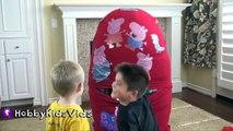 Cut Scenes: FIRST BIGGEST Peppa Egg Play! HobbyBaby Screams at HobbyKids + Behind the Scenes
