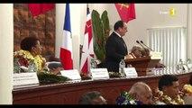 François Hollande à Wallis : discours devant l'Assemblée territoriale