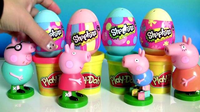 Peppa Pig Play Doh Surprise Shopkins Easter Eggs Surprise Season4 | Ovinhos de Páscoa Shopkins 2016
