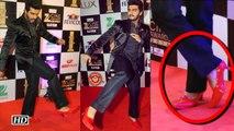 Arjun Kapoor walks in Red High Heels at Zee Cine Awards 2016