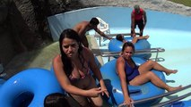 Blue Race Water Slide at Aldeia das Águas Park Resort
