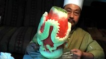 Chinese Dragon on Watermelon Fruit Carving