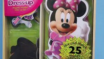 Minnie Mouse Magnetic Dress Up Doll Wooden Set Makeover Mickey Mouse Clubhouse Character Toy
