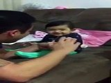 Check the Priceless Reaction of Baby when her Daddy is Cutting her Nails