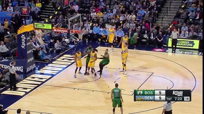 Boston Celtics vs Denver Nuggets  Full Highlights  February 21, 2016
