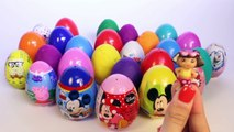 SURPRISE EGGS PEPPA PIG MICKEY MOUSE MINNIE MOUSE FROZEN PRINCESS PLAY DOH EGGS KINDER EGGS TOYS
