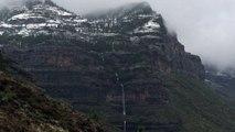 nieve y cascadas en cumbres de gran canaria que pasada pisha
