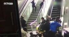 Chine : un escalator dans le sens inverse