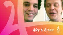 Alex Lutz et Bruno Sanches, alias Catherine et Liliane, soutiennent #Paris2024