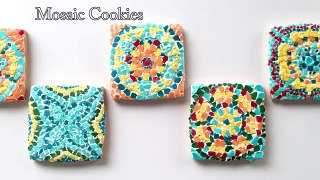 How to How can How To Decorate Mosaic Cookies How to How can WHat where why How to How can Dailymotion