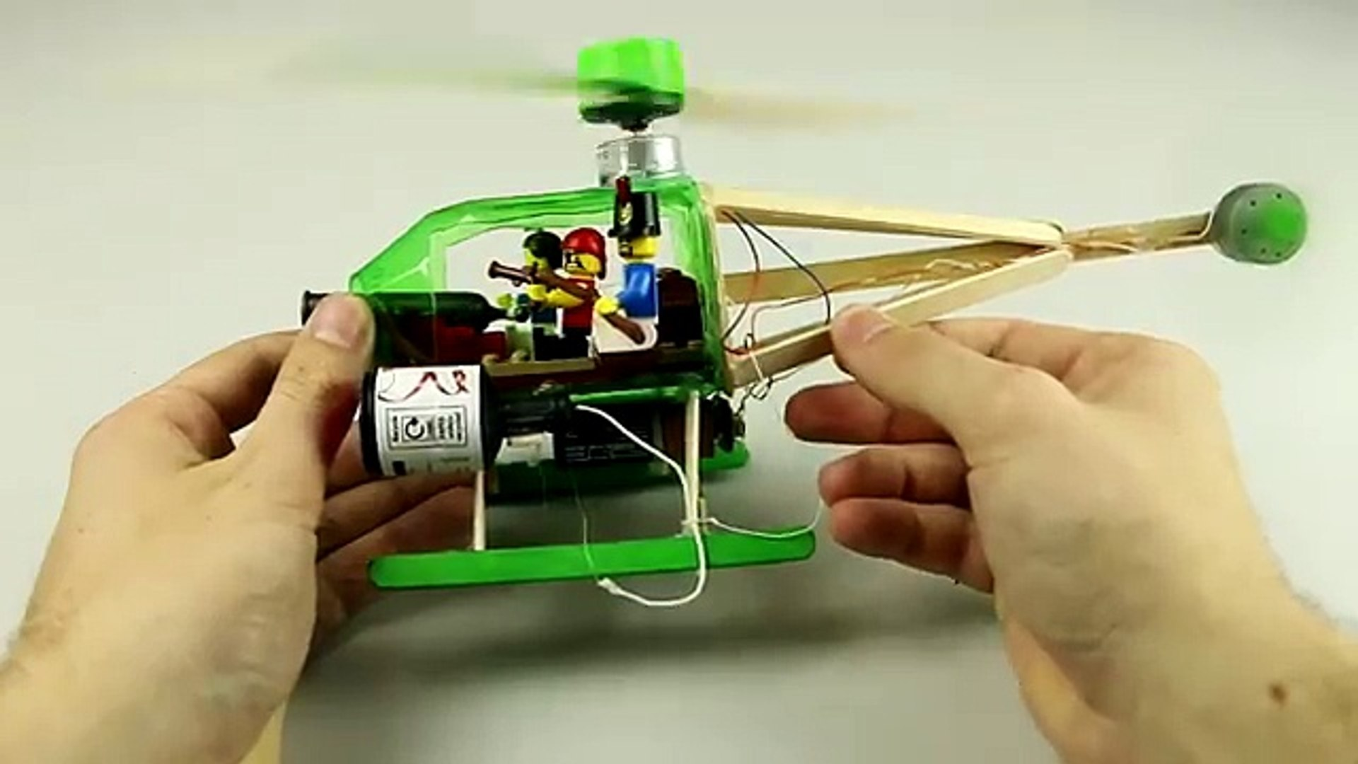 How to How can - How to make a electric helicopter , how to , how can , popsicle stick helicopter,ma