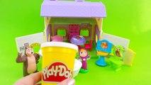 Macha et lOurs de langlais! Vidéo Jouets! Ours dans la salle de bain! Jeux pour les enfants! - 2016