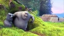Dessin animé avec un gros lapin (HUMOUR) (HQ) Big Buck Bunny