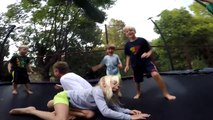 How To Properly Use a Trampoline, Fun with Friends