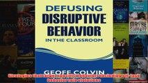 Download PDF  Defusing Disruptive Behavior in the Classroom FULL FREE